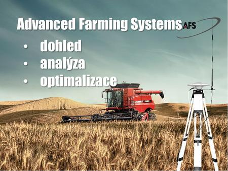 Dohled analýza optimalizace dohled analýza optimalizace Advanced Farming Systems.