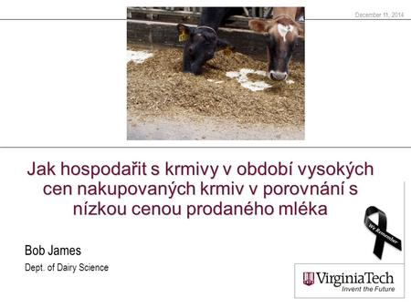 Bob James Dept. of Dairy Science