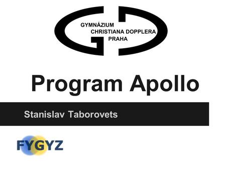 Program Apollo Stanislav Taborovets.