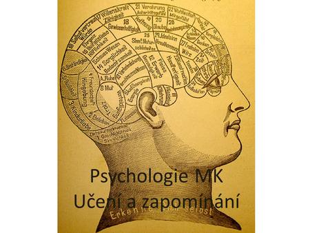 Psychologie MK Učení a zapomínání. Psychologie učení a zapomínání Test – https://www.youtube.com/watch?v=gqkQKZYDImM https://www.youtube.com/watch?v=1w9ulhUrvZc.
