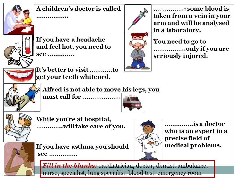 ENGLISH IDIOMS: DOCTOR IDIOM 1: go under the knife -> MEANING: to be operated on in surgery -> EXAMPLE: His wife went under the knife at the hospital last evening.