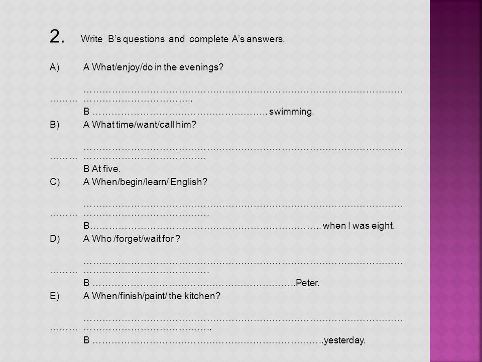 3.Complete the sentences with would like(to do) or like (doing).