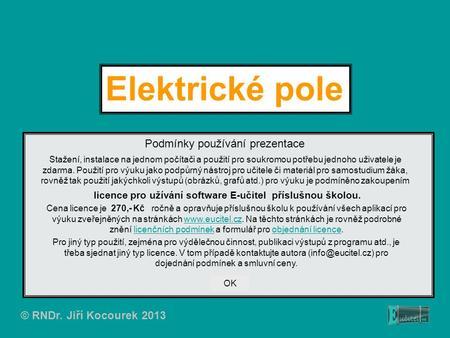 Elektrické pole prezentace