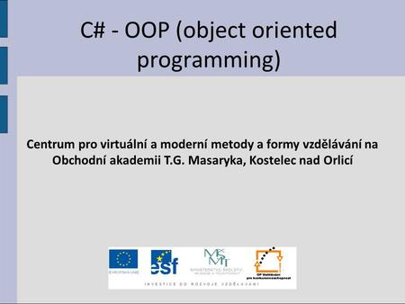 C# - OOP (object oriented programming)