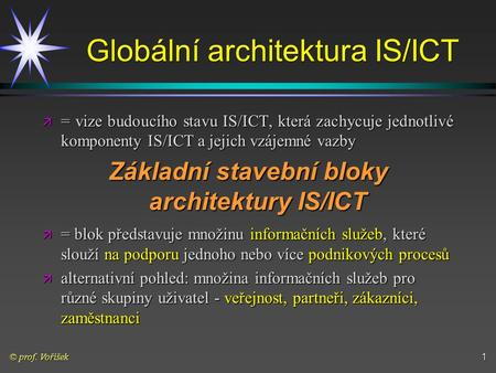 Globální architektura IS/ICT