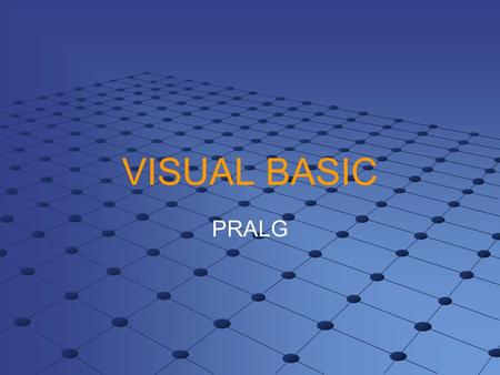 VISUAL BASIC PRALG.