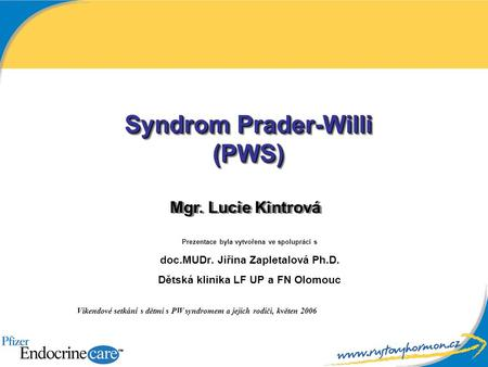 Syndrom Prader-Willi (PWS)