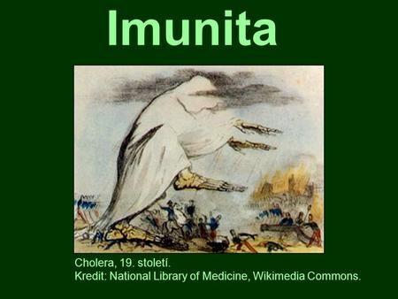 Imunita Cholera, 19. století. Kredit: National Library of Medicine, Wikimedia Commons.