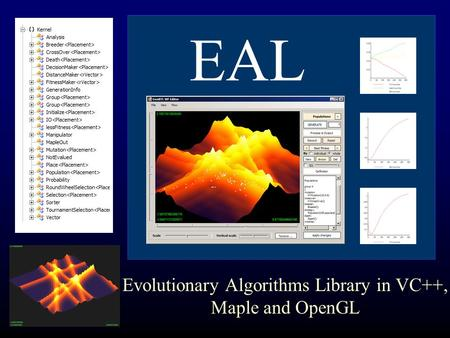 EAL Evolutionary Algorithms Library in VC++, Maple and OpenGL.