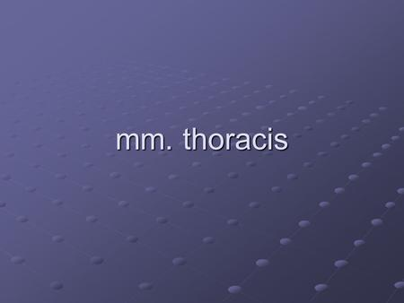 Mm. thoracis.