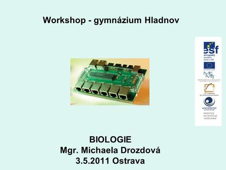 Workshop - gymnázium Hladnov