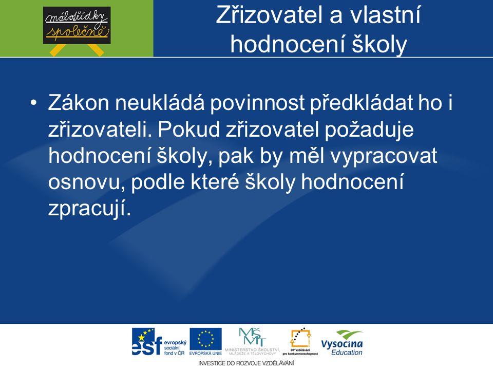 Příklady dobré praxe http://clanky.rvp.cz/clanek/s/Z/1957/HODN OCENI-ZAKU-V-MALOTRIDNICH- SKOLACH.html/, Málotřídní školyhttp://clanky.rvp.cz/clanek/s/Z/1957/HODN OCENI-ZAKU-V-MALOTRIDNICH- SKOLACH.html/ Sdělení MŠMT k provádění vlastního hodnocení školy přílohy
