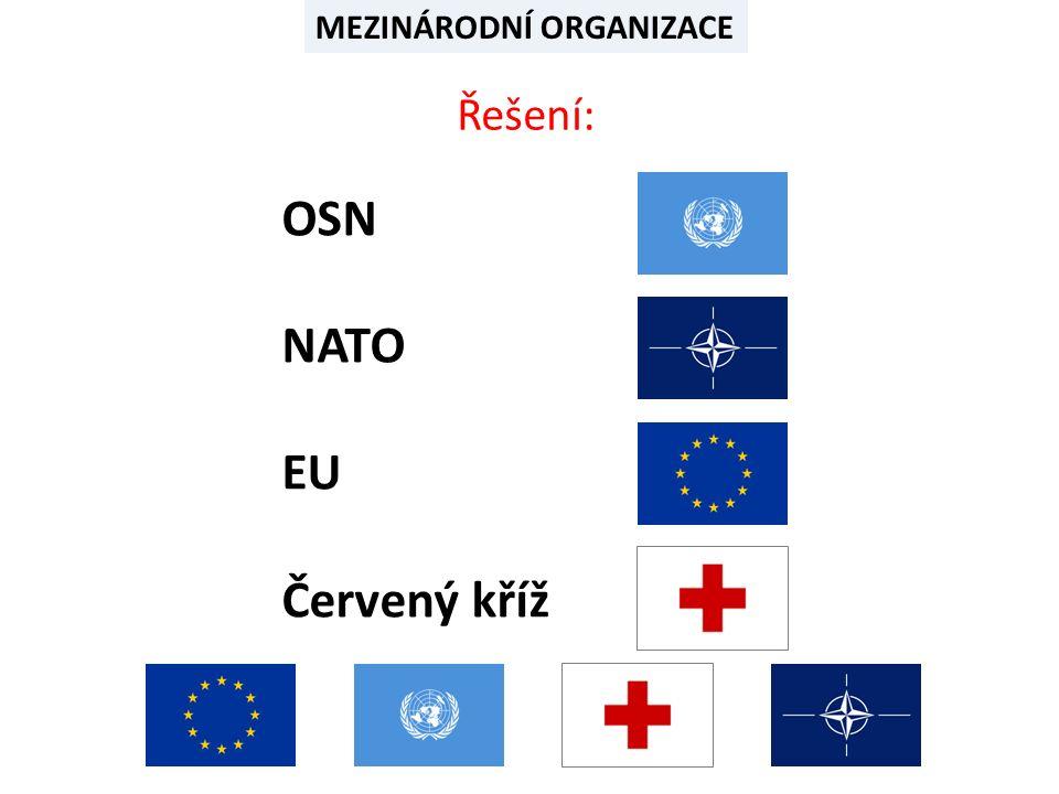 MEZINÁRODNÍ POLITICKÉ ORGANIZACE Doplň správný údaj  český název  hlavní sídlo  současný počet členských zemí  rok přijetí ČR