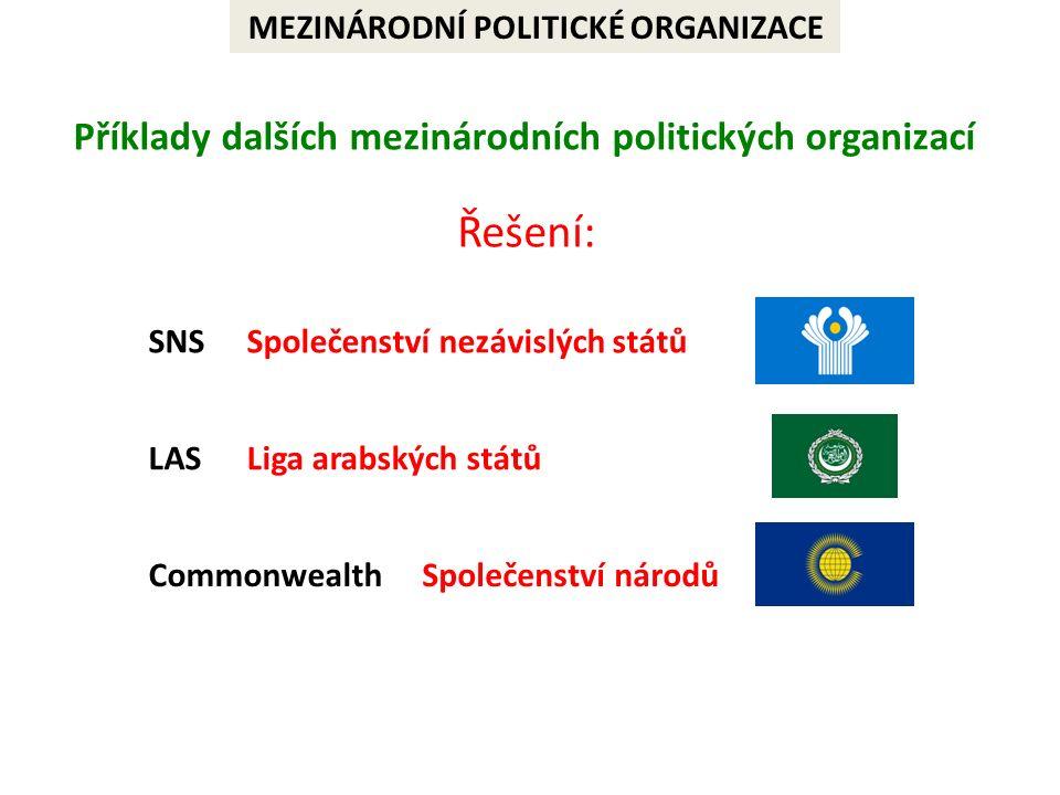 MEZINÁRODNÍ HOSPODÁŘSKÉ ORGANIZACE  český název  hlavní sídlo  současný počet členských zemí  rok přijetí ČR Doplň správný údaj