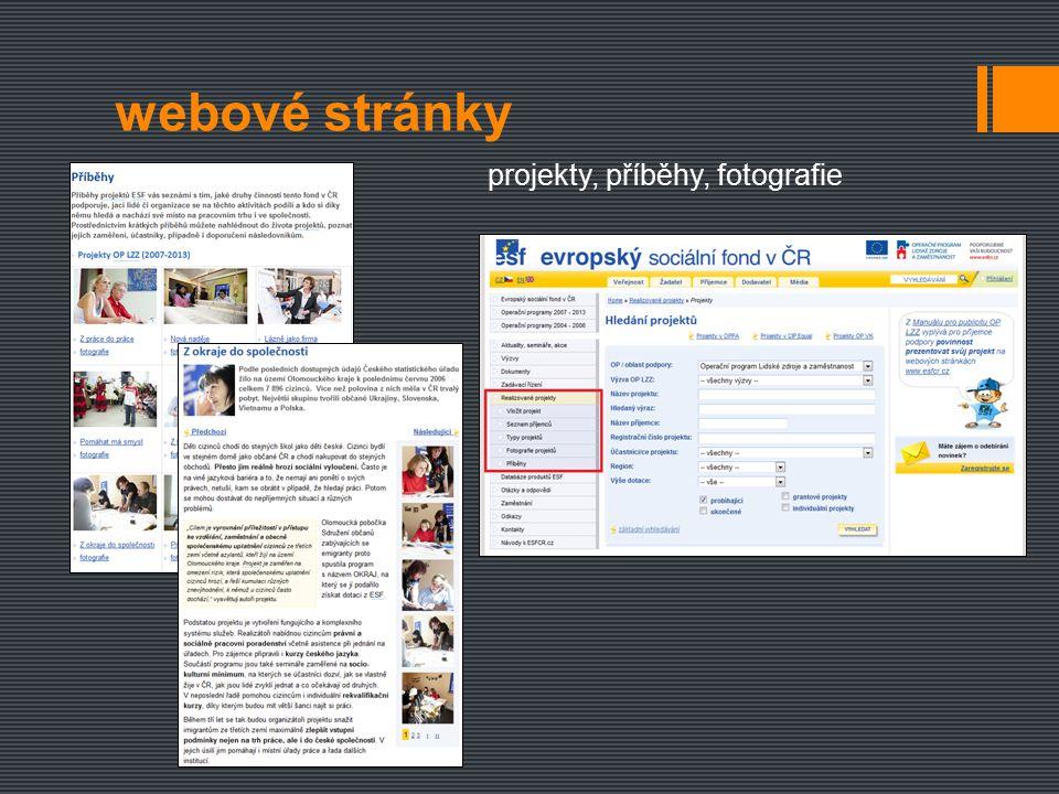 webové stránky menu dle typu návštěvníka