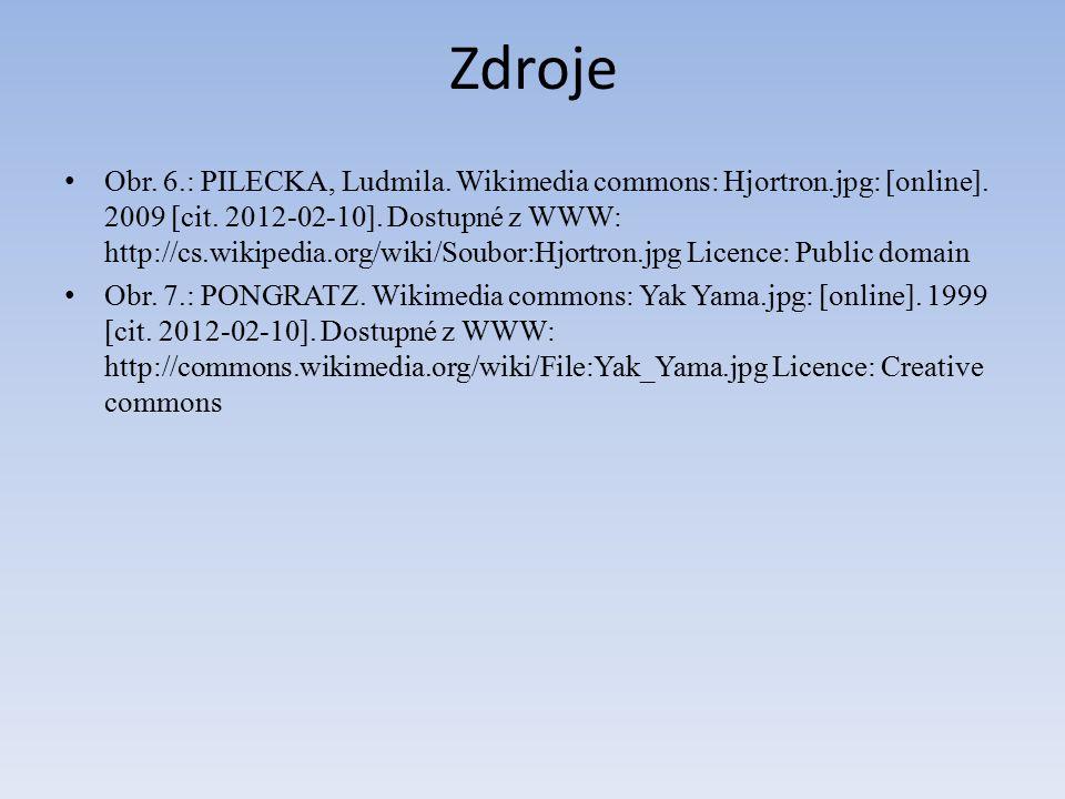 Zdroje Obr.6.: PILECKA, Ludmila. Wikimedia commons: Hjortron.jpg: [online].