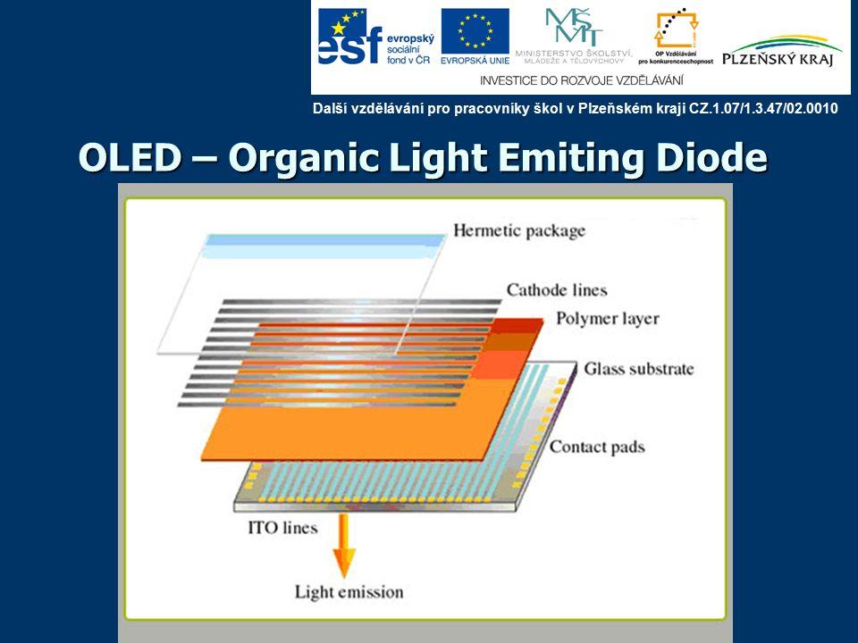OLED – Organic Light Emiting Diode Další vzdělávání pro pracovníky škol v Plzeňském kraji CZ.1.07/1.3.47/02.0010