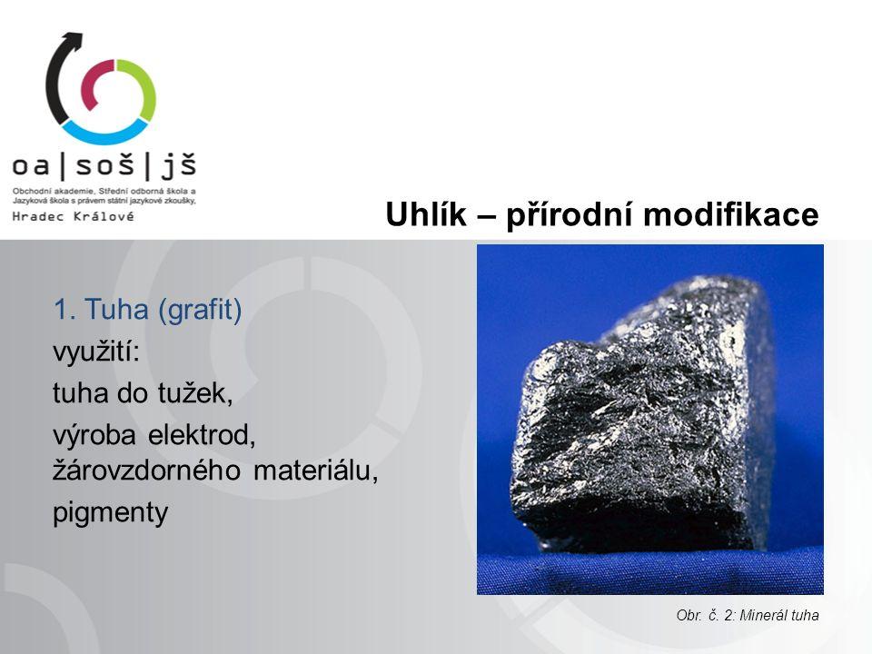 Uhlík – přírodní modifikace 2.Diamant -nejtvrdší přírodní látka (10.