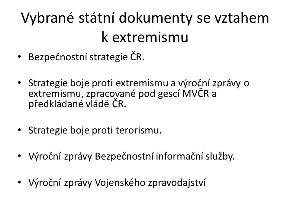 Bezpečnostní strategie ČR (schválena vládou 8.