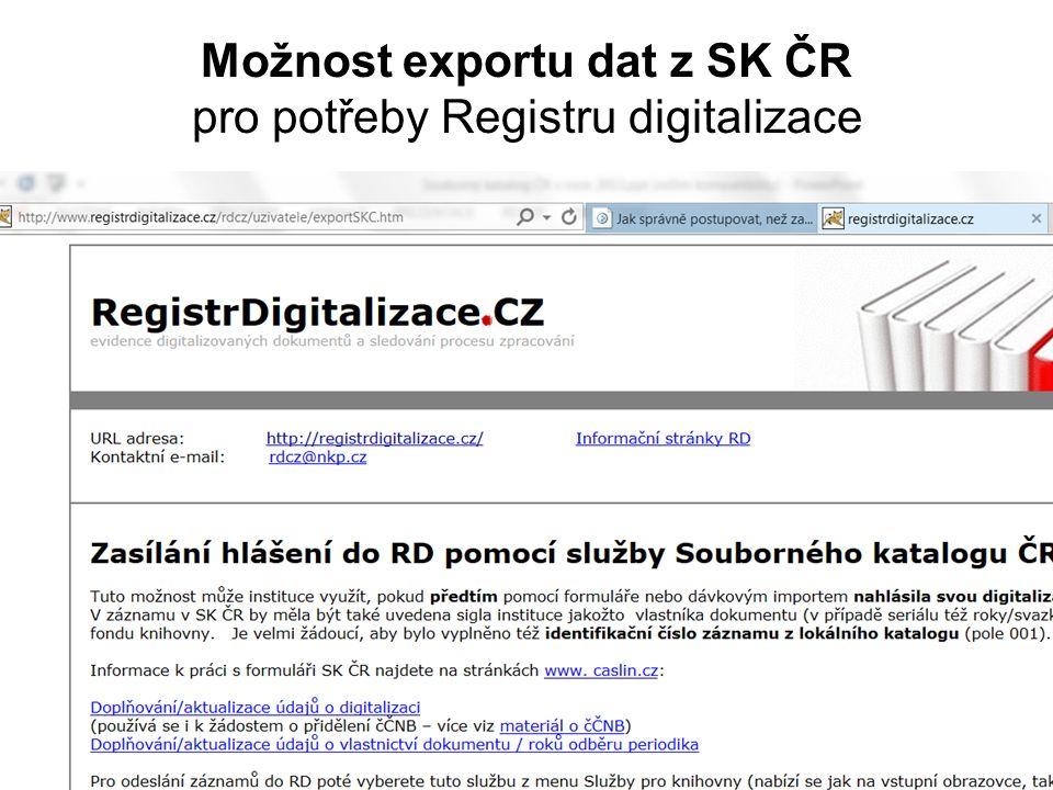 Číslo ČNB v SK ČR 2013 SK ČR není referenčním místem pro číslo ČNB, tím je báze ČNB (http://aleph.nkp.cz/cze/cnb )http://aleph.nkp.cz/cze/cnb ALE je zprostředkovatelem pro dodatečné přidělení čísla ČNB.