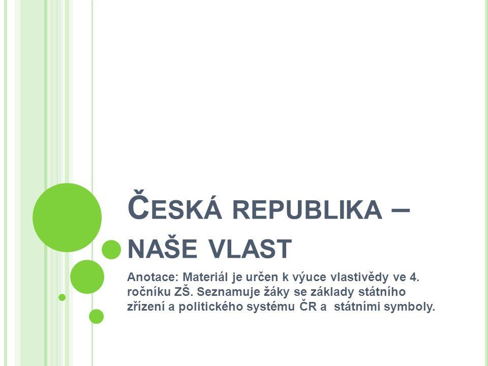 Č ESKÁ REPUBLIKA hlavním městem ČR je Praha vznikla 1.