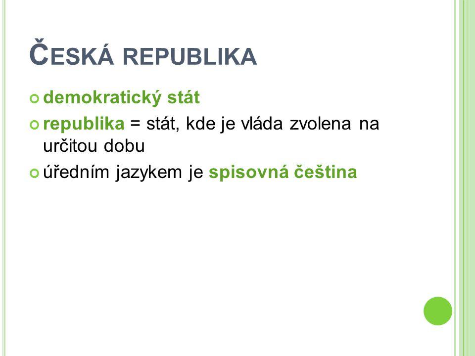 ZÁPIS DO SEŠITU Česká republika hlavní město Praha vznik 1.