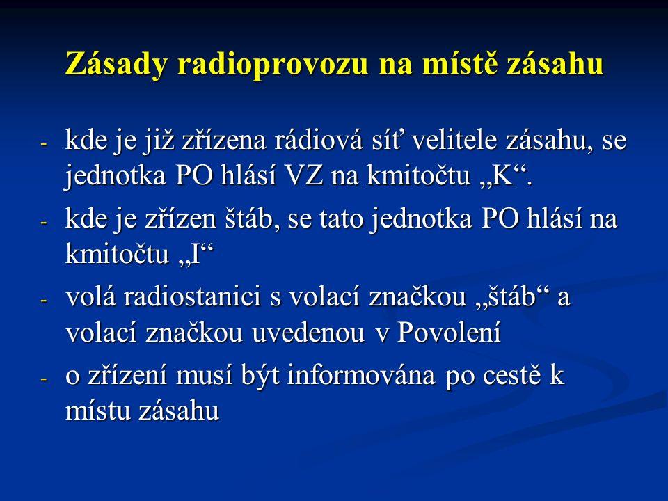 Provozní dokumentace Provozní dokumentace ARS je vedena v rozsahu : Provozní dokumentace ARS je vedena v rozsahu : - staniční protokol rádiových služeb, - provozní deník řídící radiostanice
