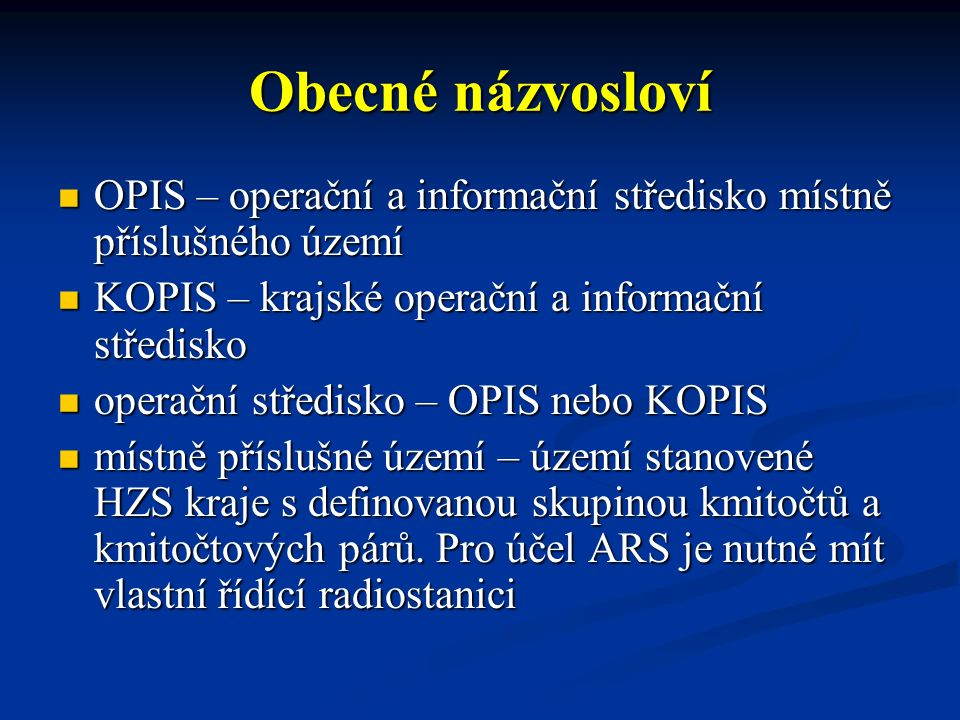 Radiokomunikační prostředky -radiostanice přenosné