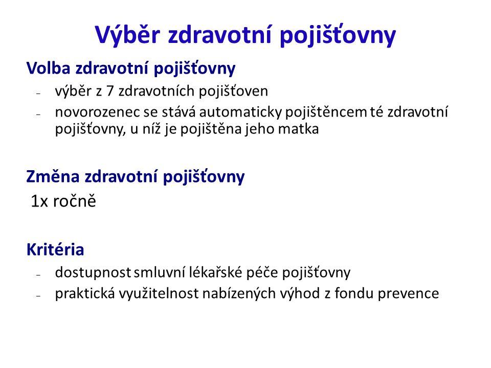 Zdravotní pojišťovny a počet jejich pojištěnců v roce 2014 Česká průmyslová zdravotní pojišťovna: 1 125 524 Oborová zdr.