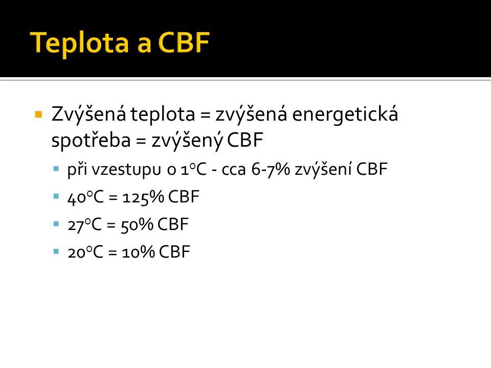  snažíme se ovlivňovat jinak neregulovatelný CBF díky vstupním parametrům  CPP/MAP  P a CO 2 (P a O 2)  Teplota  Hematokrit