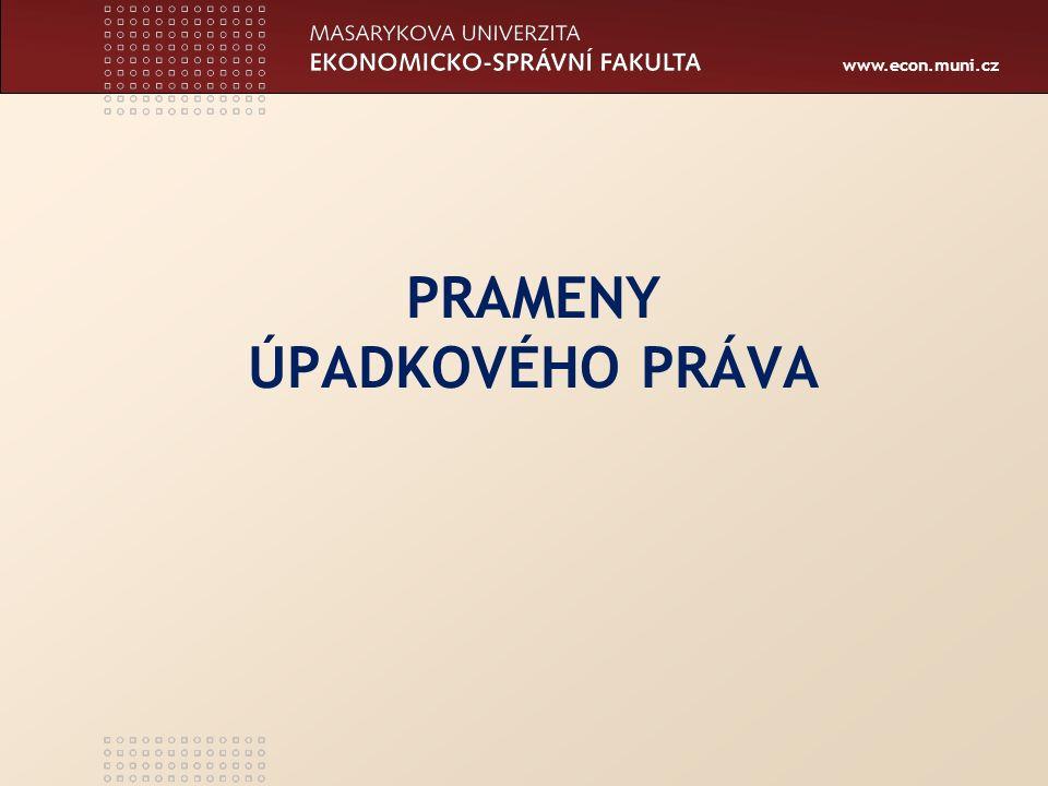 www.econ.muni.cz O ÚPADKU Nařízení Rady (ES) 1346/2000
