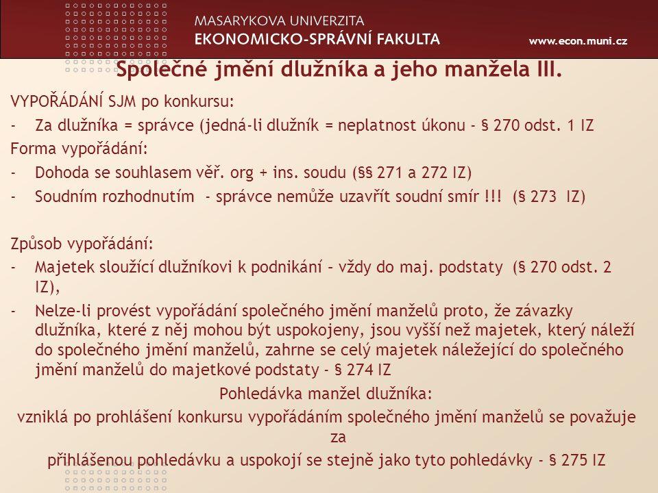 Centrum ekonomických a právních studií MU www.ceps.muni.cz Odpůrčí žaloby § 159 odst.