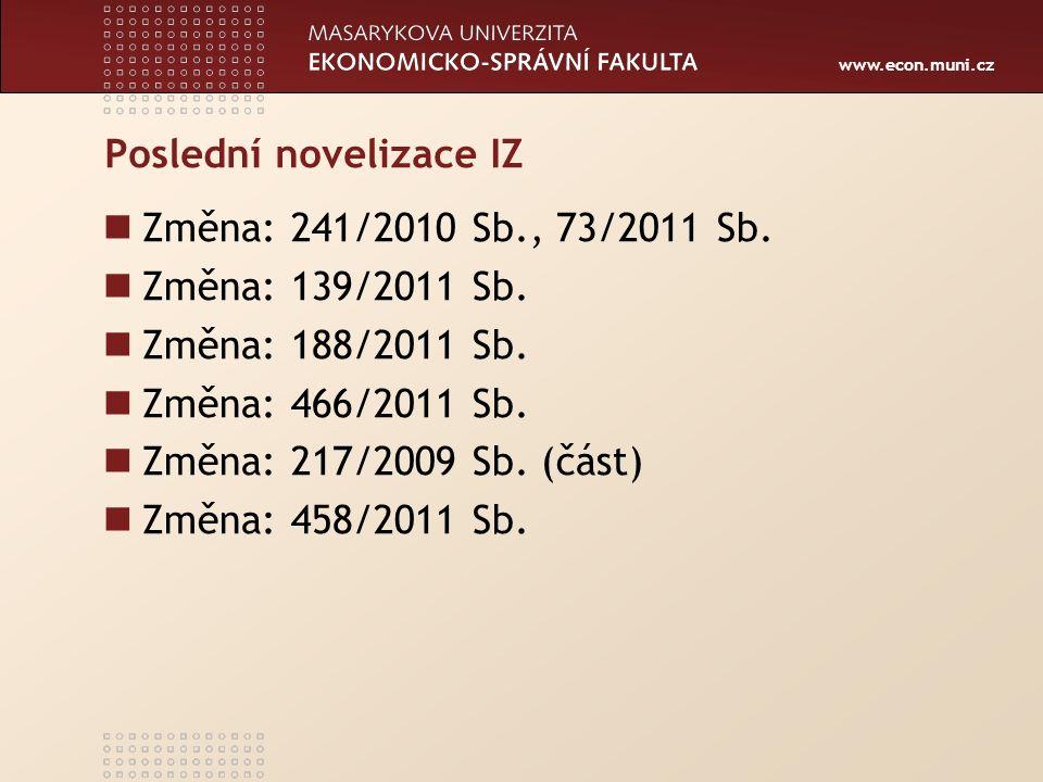 www.econ.muni.cz Právní normy na úrovni zákona II.