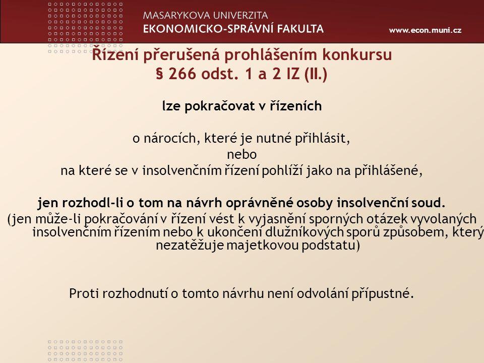 www.econ.muni.cz Výkon rozhodnutí a exekuce § 109 odst.