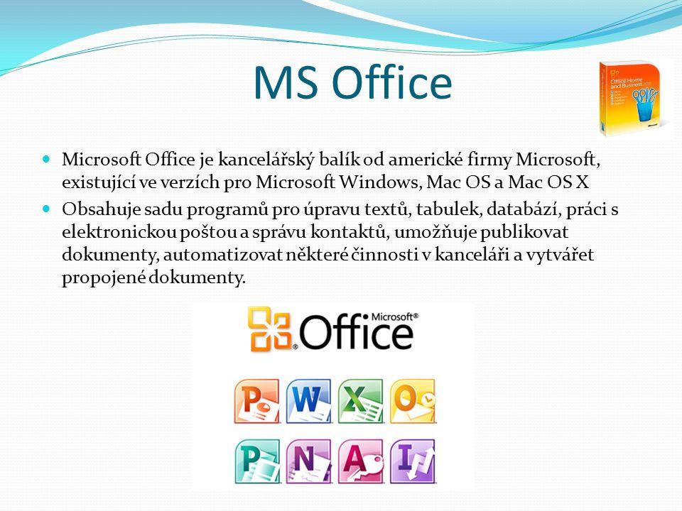 MS Word Aplikace Office Word umožňuje vytváření profesionálně vypadajících dokumentů pomocí komplexní sady nástrojů snadno použitelných díky jednoduchému uživatelskému rozhraní.