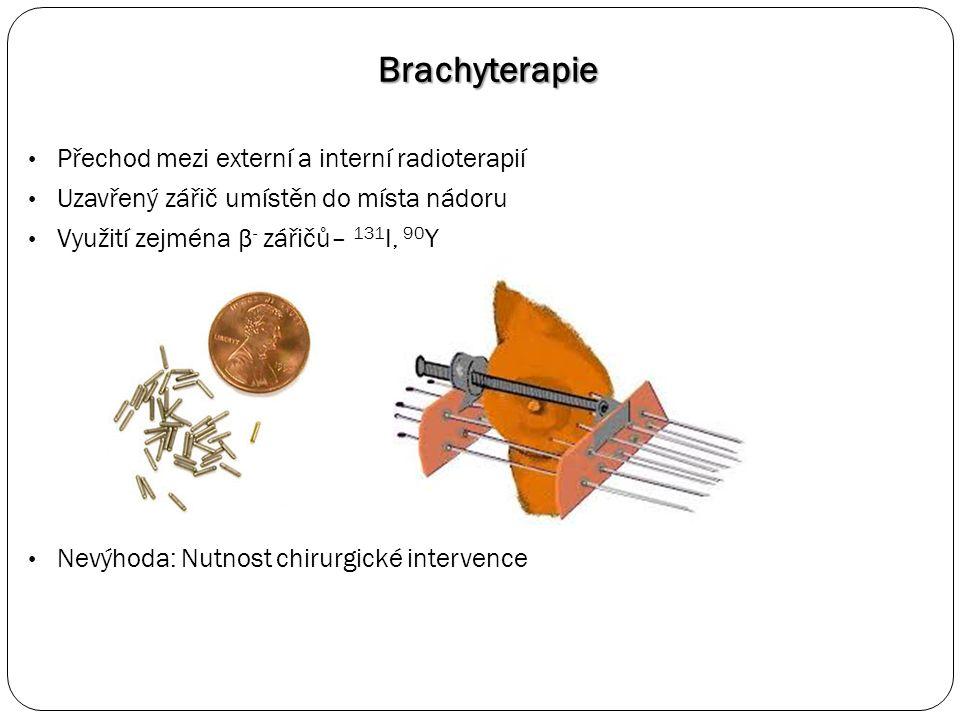 Řešení: Brachyterapie termoresponzivními polymery Termoresponzivní systémy jsou rozpustné při nižších teplotách, po zahřátí dojde k fázové separaci Laboratorní teplota značení a injekce v roztoku + in situ fázová separace