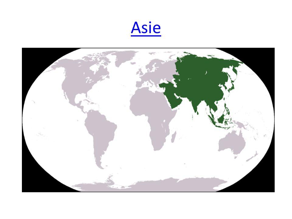 Poloha- práce s atlasem Na kterých polokoulích se Asie rozkládá.
