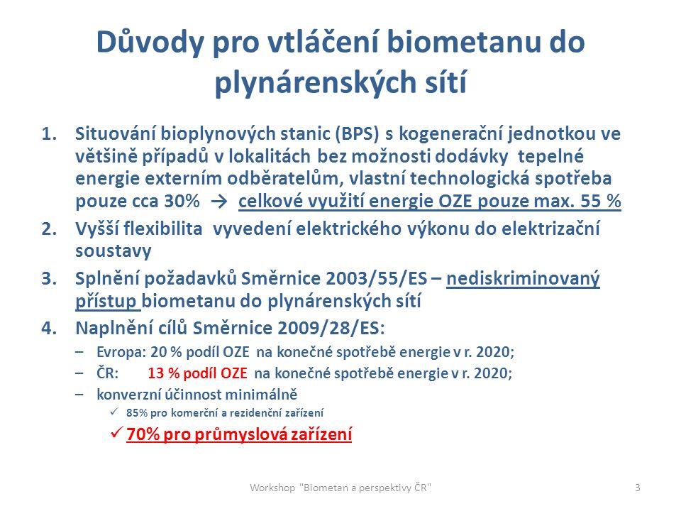 Současný stav vtláčení biomethanu v Evropě Workshop Biometan a perspektivy ČR 4