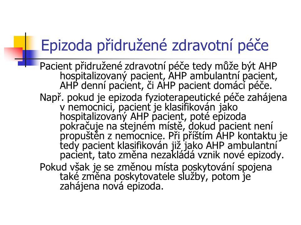 Specializace epizody Specializace epizody léčebné péče je dána odborností ošetřujícího lékaře.