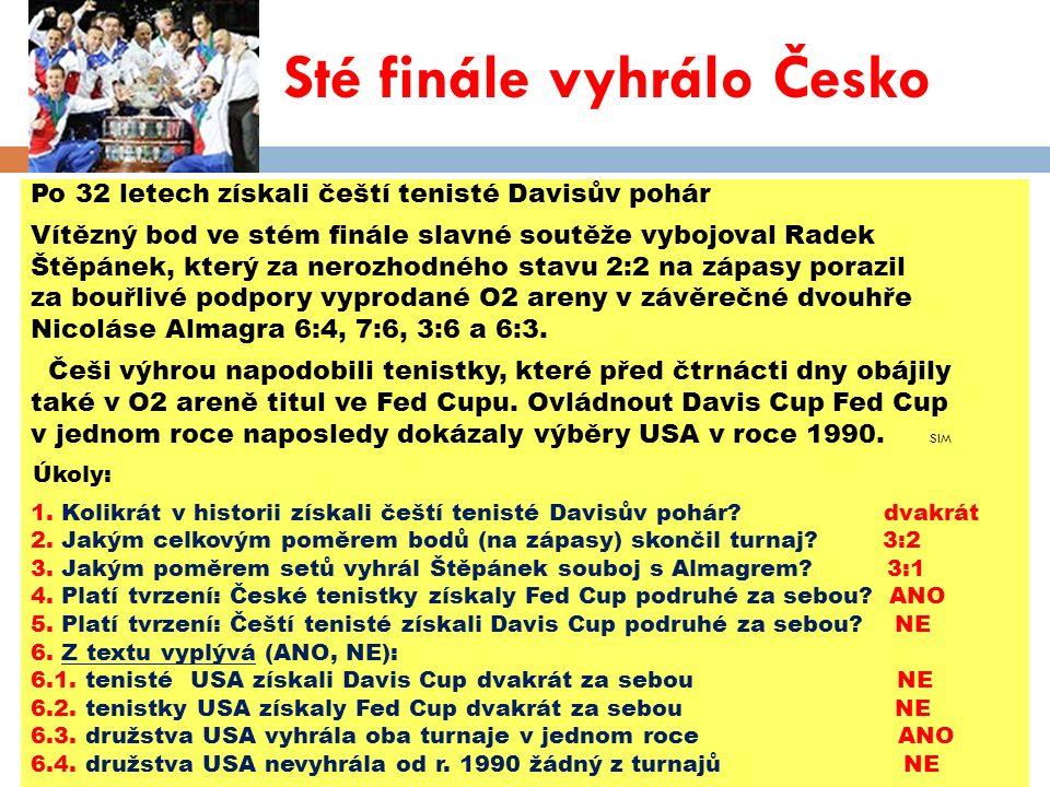 Použité zdroje: Metro.19.11.2012. ISSN 12117811.