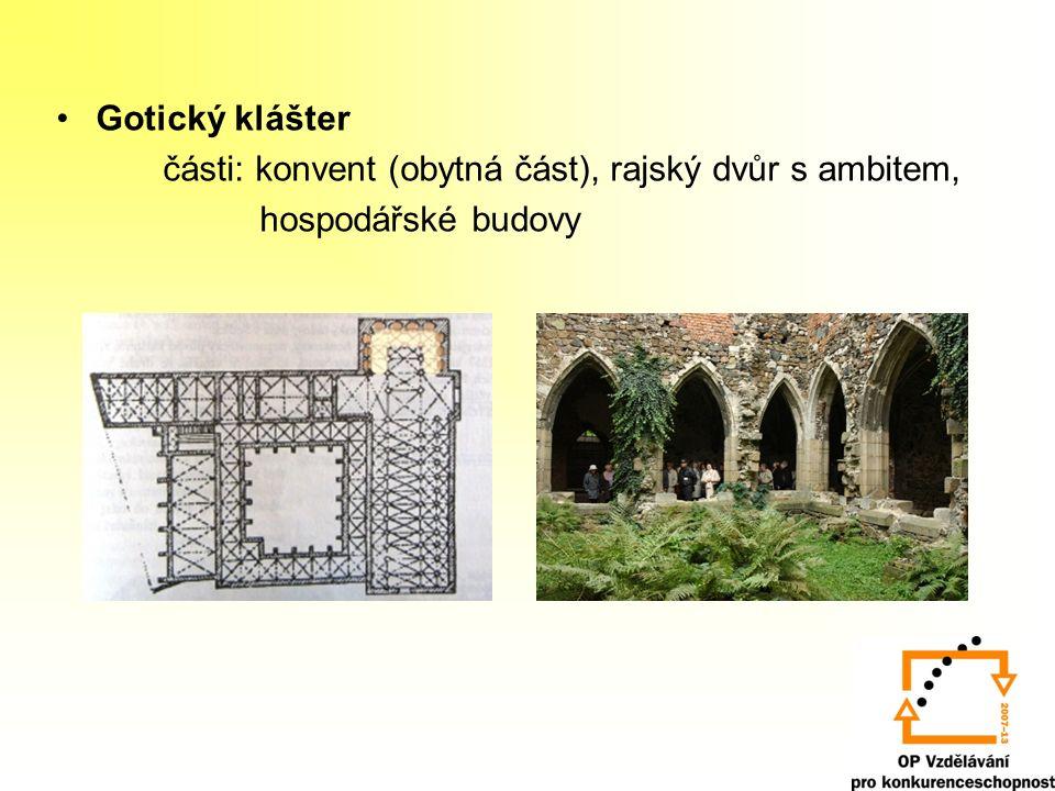 Sakrální architektura Venkovské kostelíky – emporové (vyvýšená tribuna) Městské a klášterní chrámy – baziliky Chrám sv.