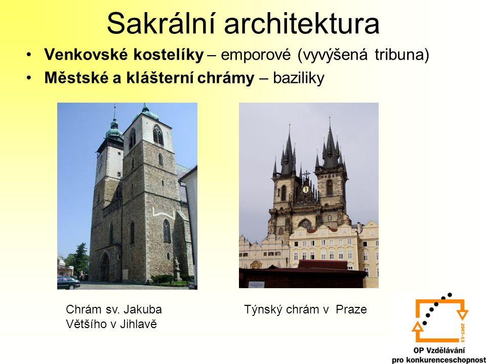 Katedrály – dispozičně baziliky, velká výška a hloubka, katedrální opěrný systém 1) Chrám sv.
