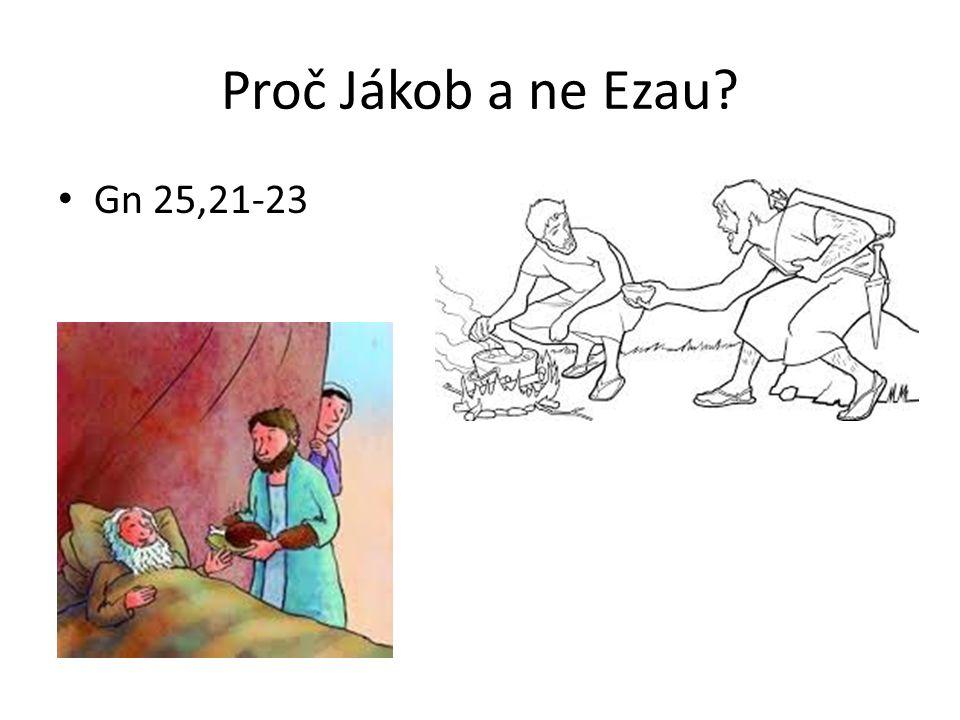 Proč Jákob a ne Ezau.