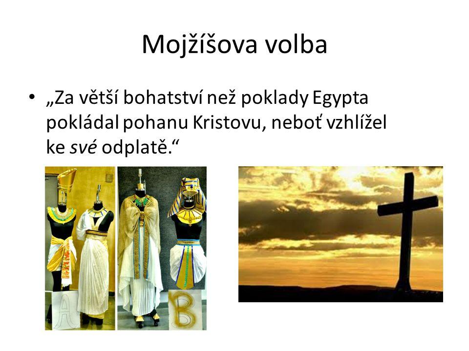 """Mojžíšova volba """"jakoby viděl neviditelného, tak se utvrdil v.27 Ex 33,11 Nm 12,1-8 Jan 1,18; 1J 4,12"""
