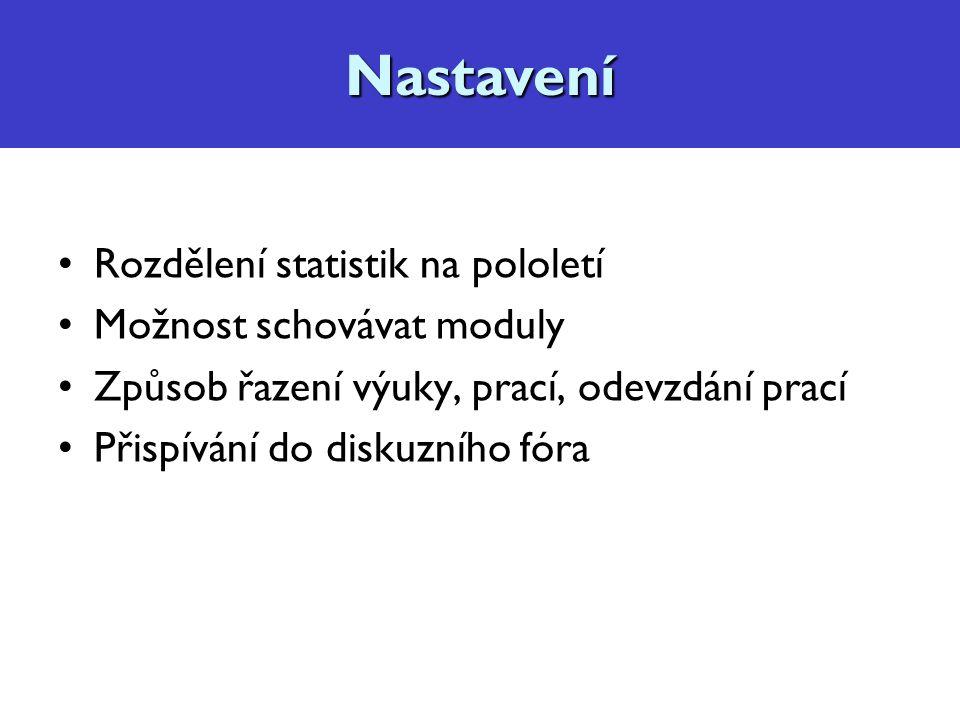 Diskuzní fórum, konzultace Kopírování obsahu mezi kurzy, např.