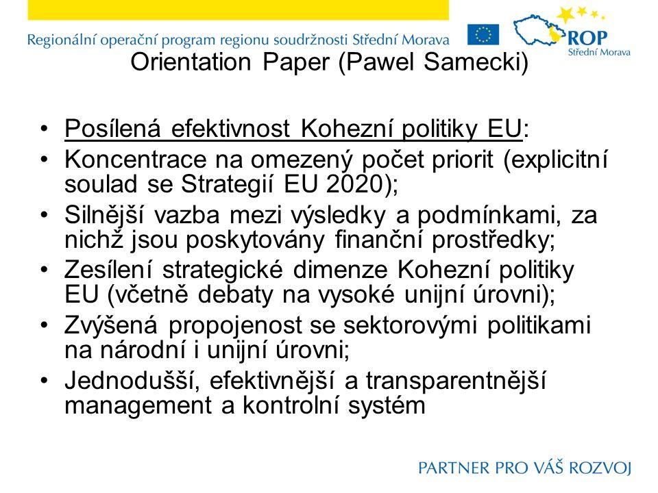 Reforma rozpočtu EU Problém pociťovaný již v před-krizovém období; Konformnější s budoucími rozvojovými výzvami, s potřebou přizpůsobení se zásadním, kvalitativním strukturálním změnám; V jakém poměru má být rozpočet EU vůči rozpočtům národním (při platnosti principů subsidiarity a proporcionality) ?; Politická a manažersko-procedurální úroveň: zajištění všech politických priorit EU