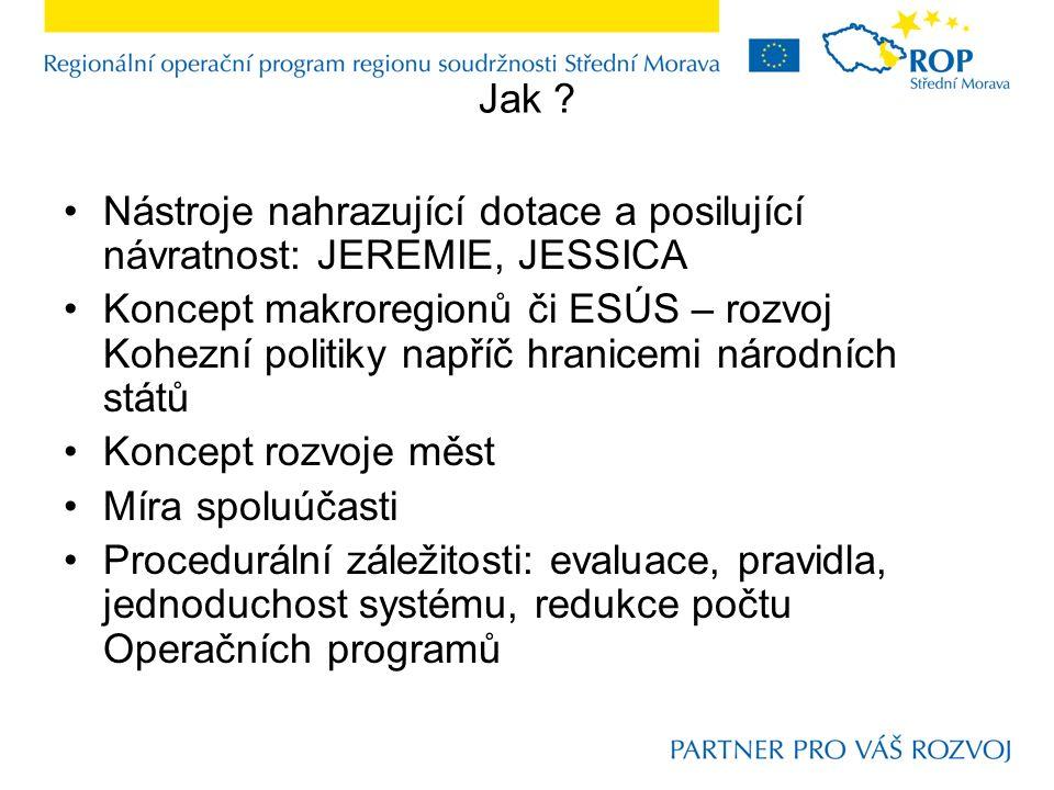 """K parametrům budoucí Kohezní politiky EU Klíčové parametry a národní preference: Česká republika: snaha, aby budoucí alokace nebyla výrazně redukovanější v porovnání s nynější; využití nástrojů """"statistického efektu zřejmě nebude třeba; větší schopnost využívat projektů """"náročnější povahy; Cíle: nynější rozložení odpovídající; otázka: jak zakomponovat územní kohezi ?;"""