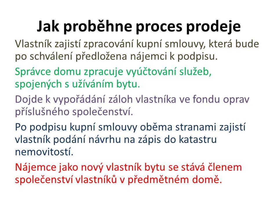 Stav vlastníka bytu: vlastnický vztah je upraven zákonem č.