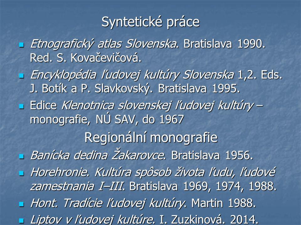 Monografie (tematické) Agrární problematika – V.Urbancová, J.