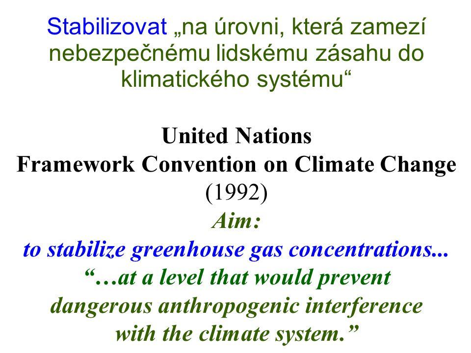 Figure 22: Vývoj emisí, který by dával naději 67 %, že globální oteplení nepřesáhne 2 ºC